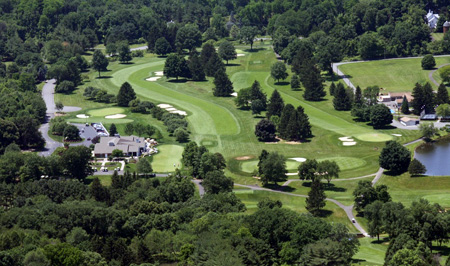 Aerial view of Mendham Golf & Tennis Club
