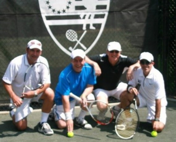 4 male tennis players